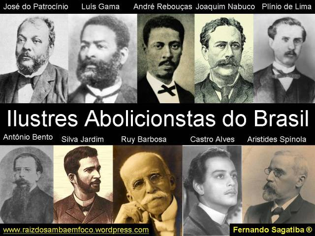 ilustres abolicionistas do brasil